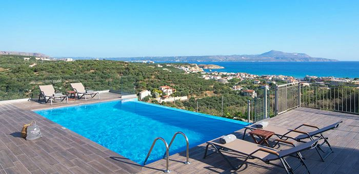 Villas With Pools West Of Chania Crete