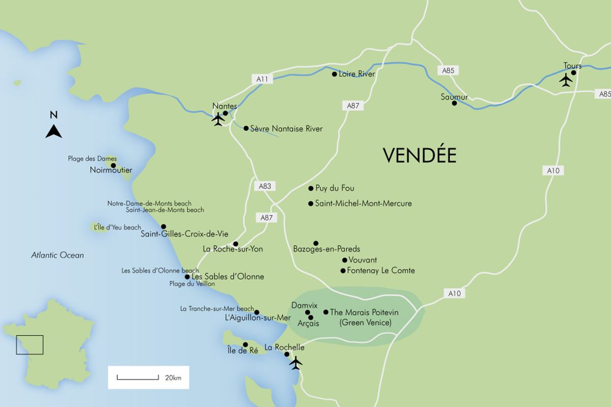 Map Of France Vendee.Luxury Vendee Holidays France 2019 20 Simpson Travel